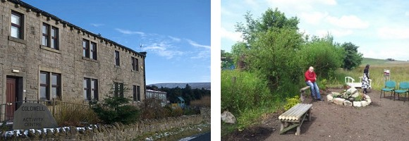 Two views of Coldwell Activity Centre