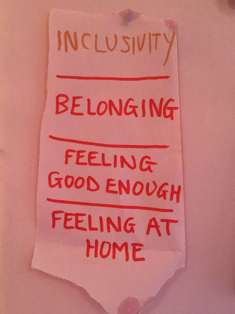 Inclusivity belonging feeling at home