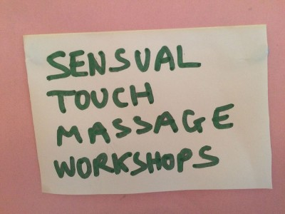 Sensual touch massage workshops