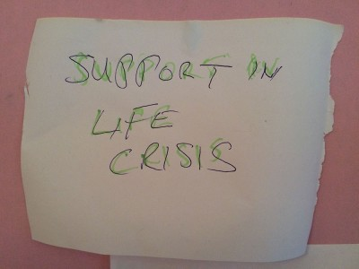 Support in life crisis