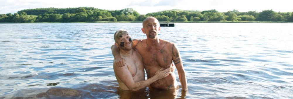 Photo of Stephen and Mike in the loch at Laurieston