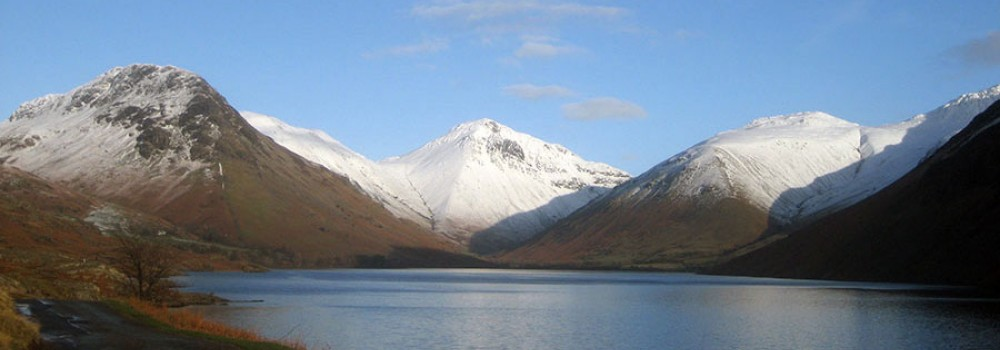 Photo of Wasdale with fells in snow