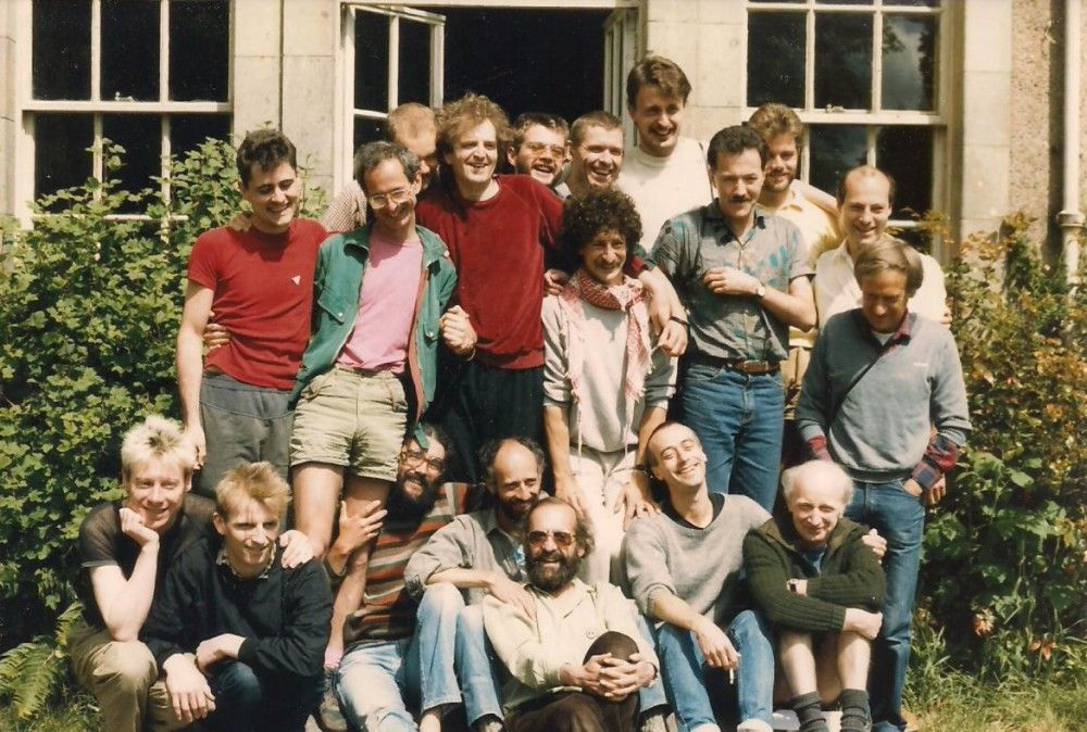 Group at Laurieston Hall in 1985