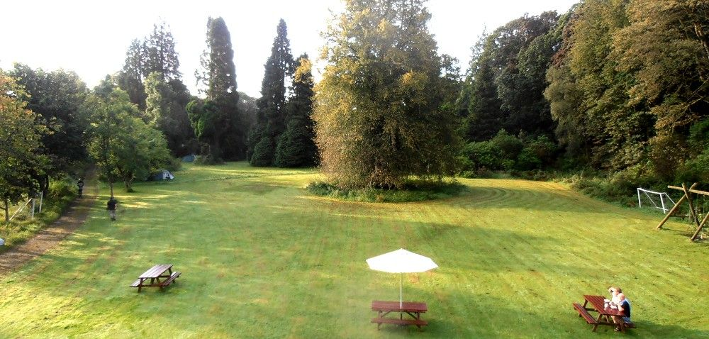 The lawn at Laurieston Hall