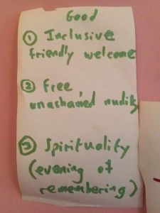 Inclusive friendly welcome Free unashamed nudity