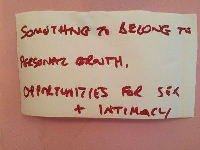 Something to belong to Personal growth Sex and intimacy