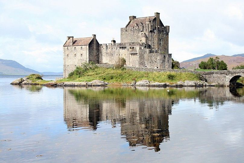 Castle reflected in the water